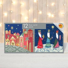 Pack of 12 Religious Scene Christmas Cards