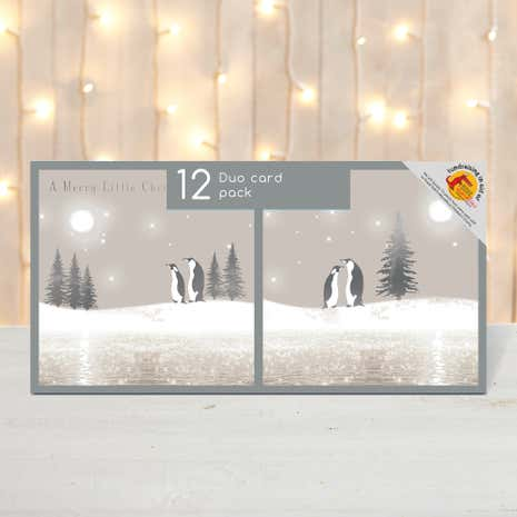 Pack of 12 Icy Penguins Christmas Cards