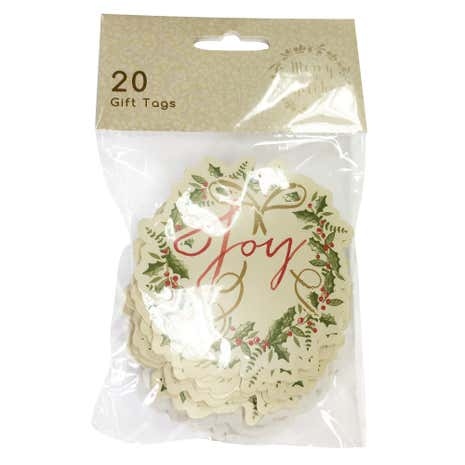Pack of 20 Traditional Wreath Tags