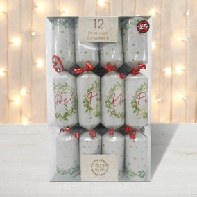 Pack of 12 Peace Premium Christmas Crackers