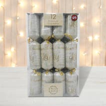 Pack of 12 Gold Script Premium Christmas Crackers