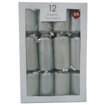 Pack of 12 Silver Script Family Crackers