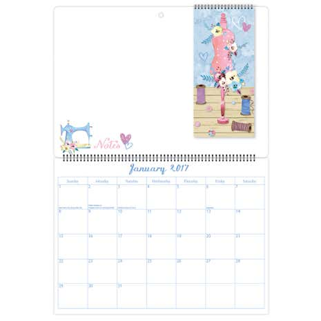 Sewing Memo 2017 Calendar with Shopping List