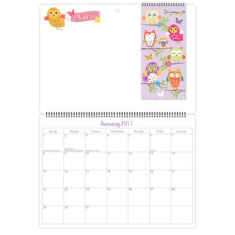 Owl Memo Calendar with Shopping List