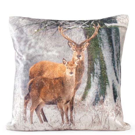 Winter Stag Cushion