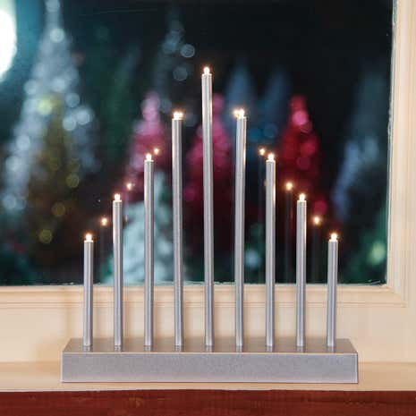 Silver Tiered Candle Bridge