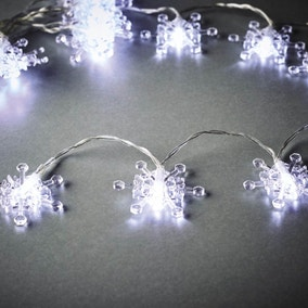 Set of 20 Snow Flake LED String Lights