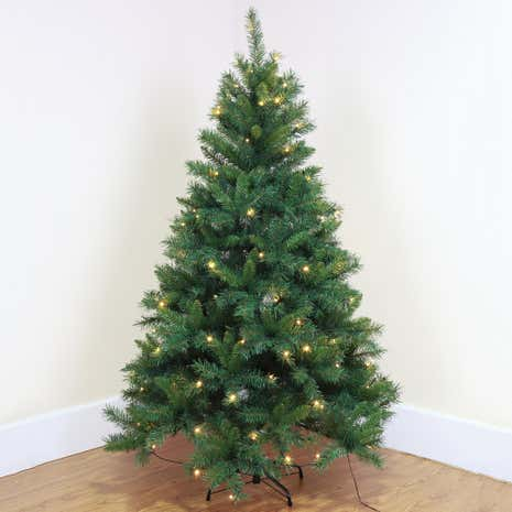 6ft Green Pre-lit Christmas Tree