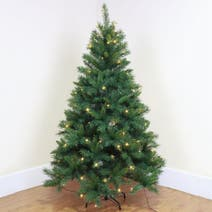 6ft Black Christmas Tree Pre Lit