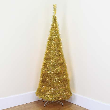 6ft Gold Pop-up Christmas Tree