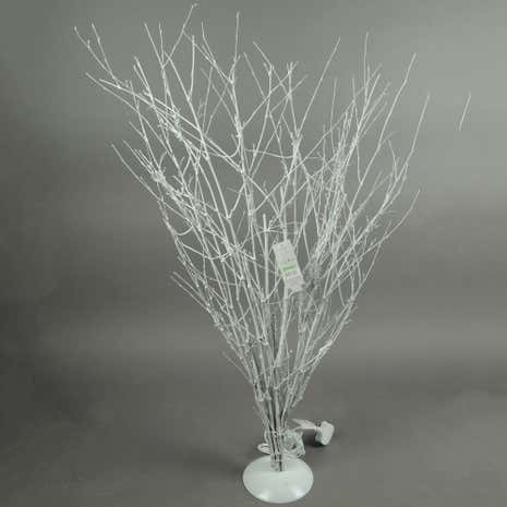 Silver Light-Up Christmas Tree with 20 LED Lights