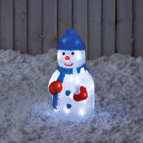 Light-Up Snowman with 32 LED Lights