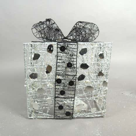 Silver Christmas Parcel Light