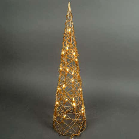 Gold LED Christmas Cone Light