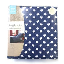 Kids Brushed Cotton Stars Single Duvet Set with Fitted Sheet