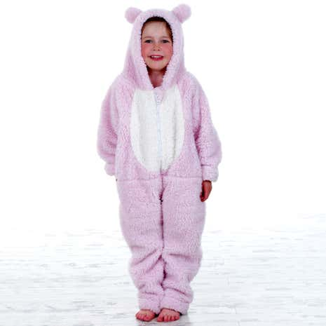 Kids Pink Teddy Bear All-in-One