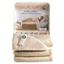 Dreamland Intelliheat Champagne Velvet Heated Overblanket