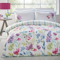 Watercolour Floral Duvet Cover Set