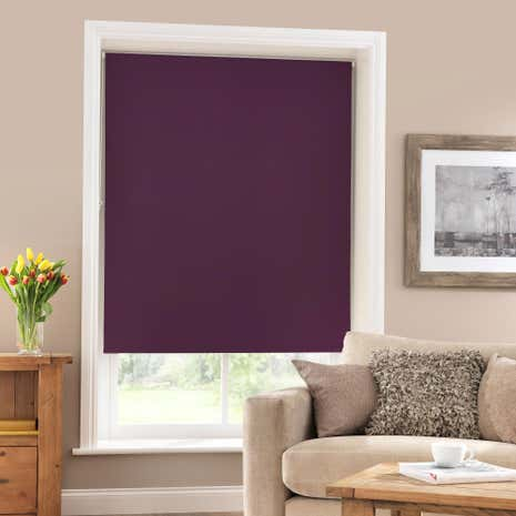 Aubergine Blackout Roller Blind