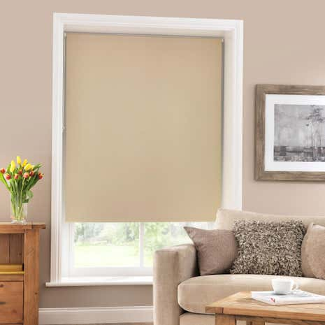 Biscuit Blackout Roller Blind