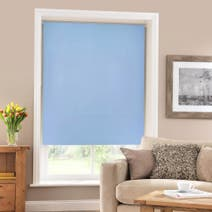 French Blue Blackout Roller Blind