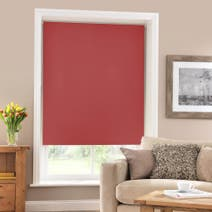 Red Blackout Roller Blind