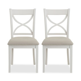 Blakely Cotton Pair of Dining Chairs