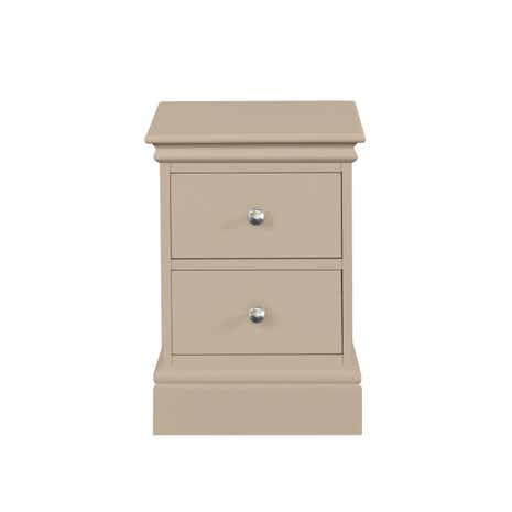 Blakely Taupe Narrow Bedside Table