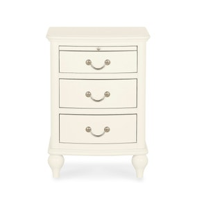 Athena Ivory 3 Drawer Bedside Table
