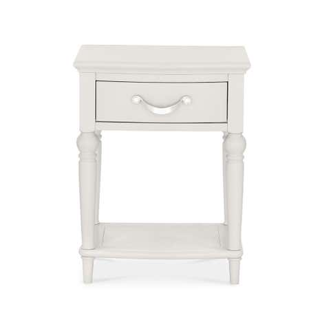 Sophia Grey 1 Drawer Bedside Table