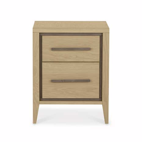 Mason Oak 2 Drawer Bedside Table