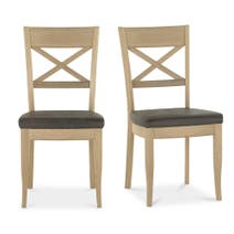 Savannah Cross Back Pair Of Dining Chairs