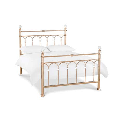 Carrington Rose Gold Bedstead
