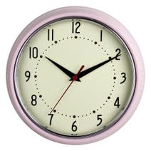 Pretty Pastels Pink Wall Clock