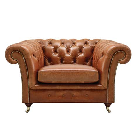 Chesterfield Old English Tan Armchair