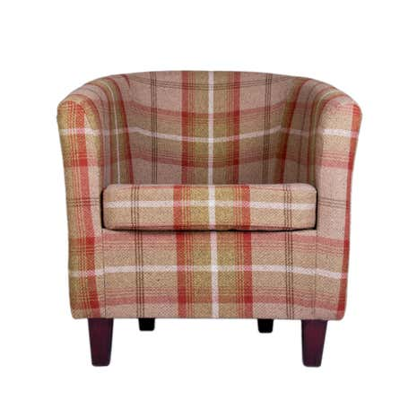 Balmoral Rust Check Tub Chair