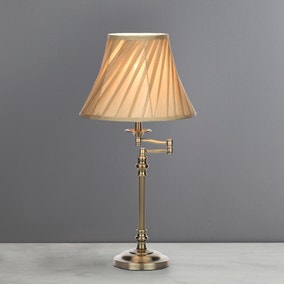 Milton Swing Arm Antique Brass Table Lamp