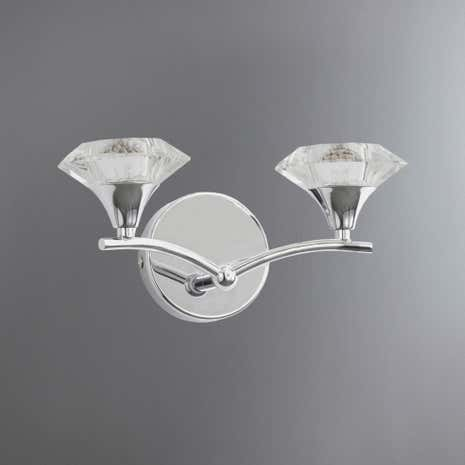 Odell 2 Light Chrome Wall Light