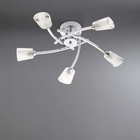 Ariel 5 Light Flush Chrome Ceiling Fitting