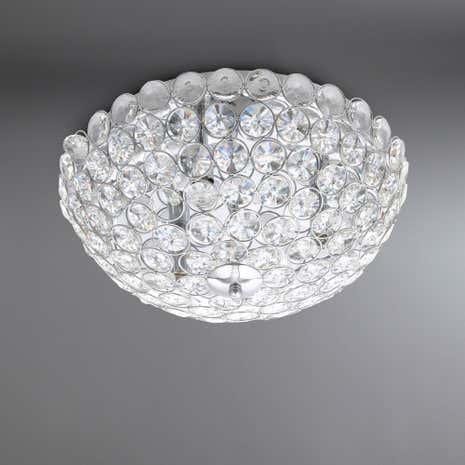 Maia Chrome Flush Ceiling Light