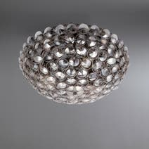 Maia Smoke Flush Ceiling Light