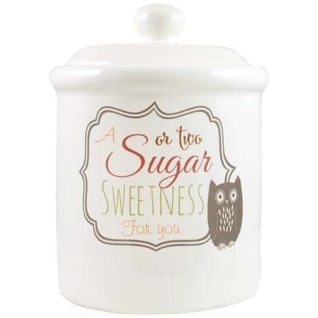 Rustic Woodlands Sugar Canister