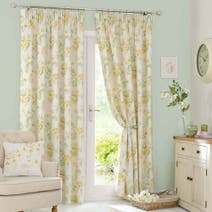 Dorma Primrose Yellow Pencil Pleat Curtain