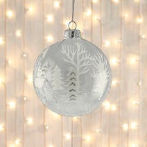 Winter Scene Glass Bauble