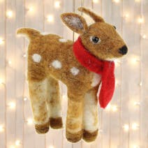 Wool Fawn Tree Decoration
