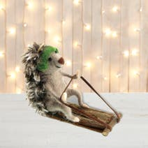 Wool Hedgehog Tree Decoration