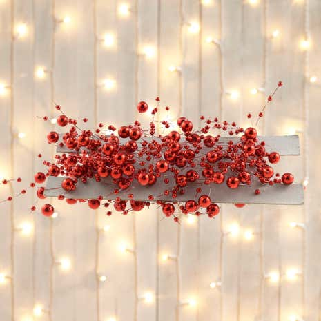 Red Beaded Tree Garland
