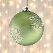 Green Snowflake Bauble