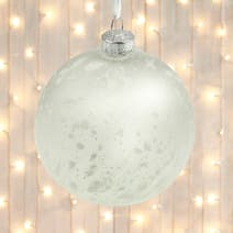 Iced White Bauble