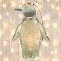LED Acrylic Penguin Tree Decoration